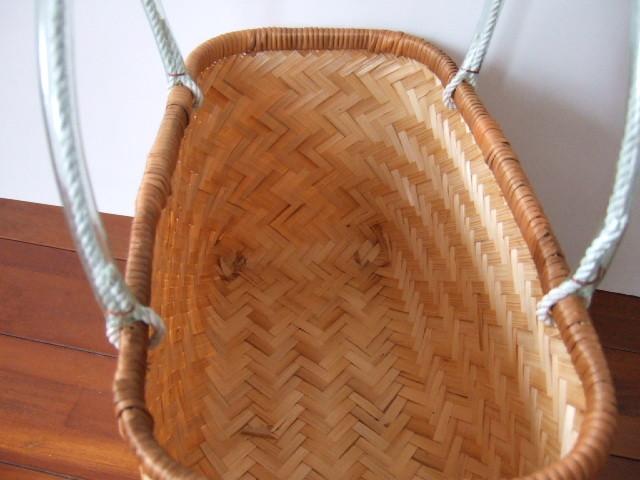 台湾製 竹で作られた市場かご 買い物に最適な竹のかごバッグ 中