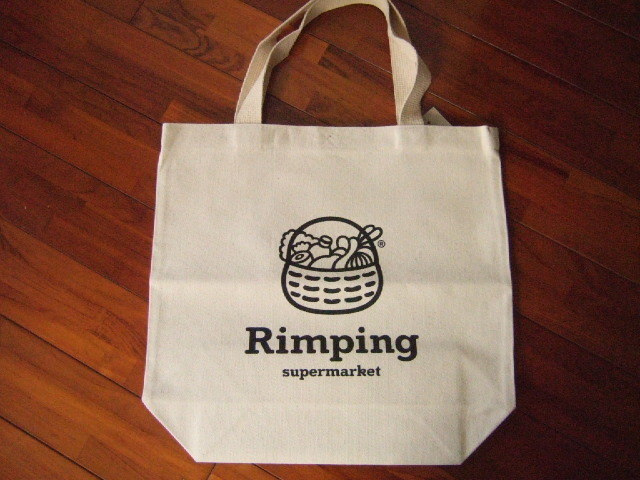 【タイ製】RingPingスーパーのエコバッグ マーク入り 大き目 丈夫な布タイプ