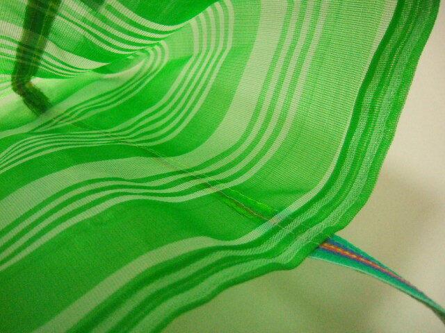 台湾製 メッシュのトートバッグ 緑&白