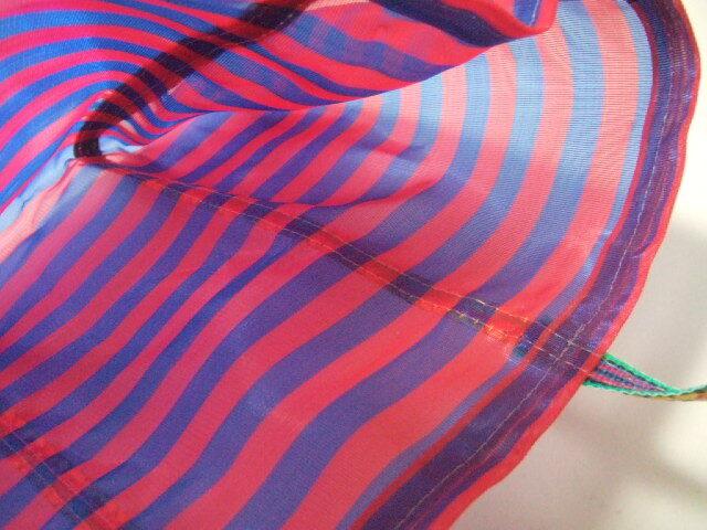 台湾製 メッシュのトートバッグ 青&赤