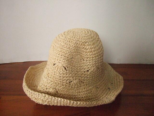 【タイ製】ラフィアハット 帽子 オフホワイト ノーマル おしゃれ帽子【レターパック可】