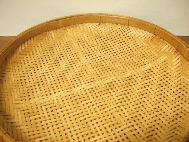【タイ製】竹製のざる 直径30cm 針金留め タイのハンドメイド
