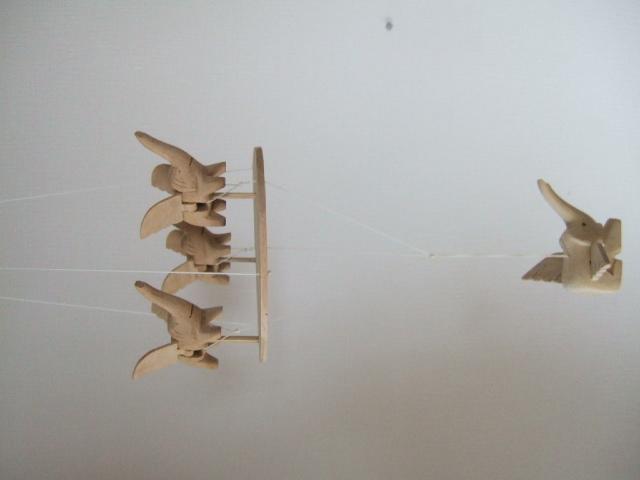 【タイ製】空飛ぶ象さんのモビール 動きで癒されます タイ製玩具