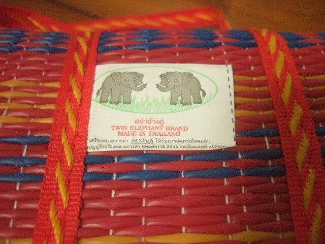 【タイ製】レジャーシート 小サイズ 緑&黄色 169x95cm 600g プラスチック製