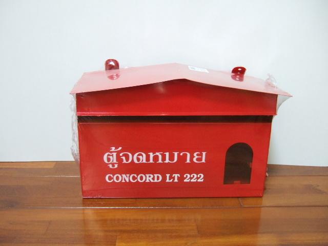 タイ製】ポスト 赤 CONCORD 郵便受けやお部屋のインテリアでも使用可