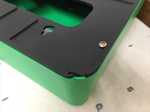 台湾製 プラスチックのポスト 緑 信箱 鍵付き 傷アリの難あり品