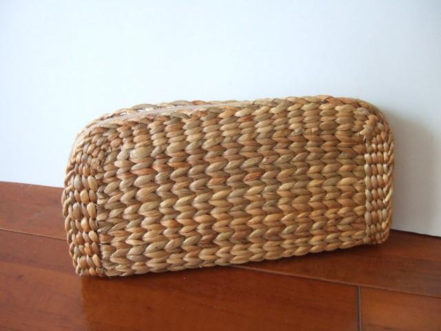 【タイ製】かご素材(ウォーターヒヤシンス)の長財布 かごでよく使われてる素材を使った珍しいお財布(レターパック可)
