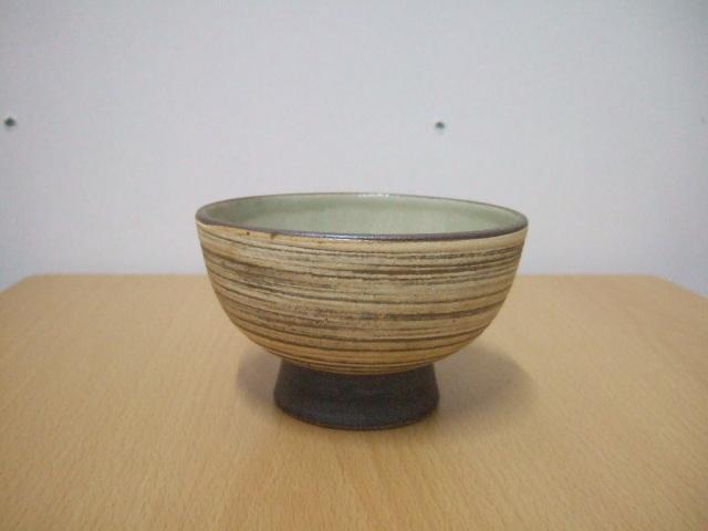 沖縄産 ツチノヒ やちむん 4寸マカイ 刷毛目(ご飯茶碗)