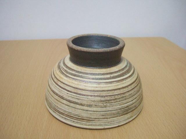 沖縄産 ツチノヒ やちむん 4寸マカイ 刷毛目(ご飯茶碗)使い易い