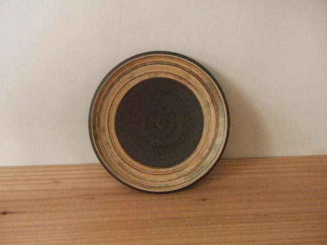 沖縄産 ツチノヒ やちむん 5寸皿 刷毛目