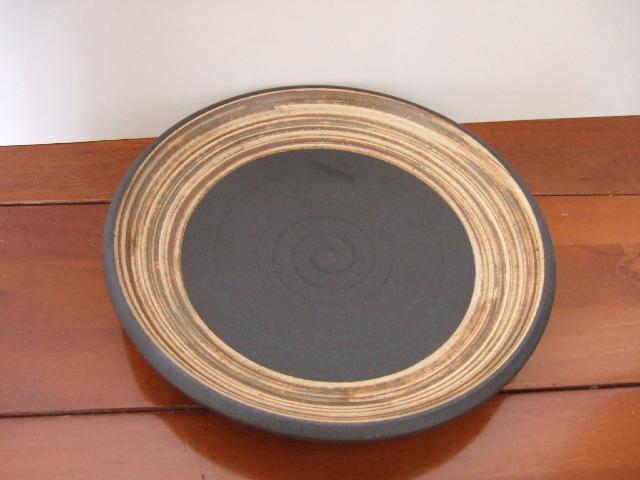 沖縄産 ツチノヒ やちむん 6寸皿 刷毛目