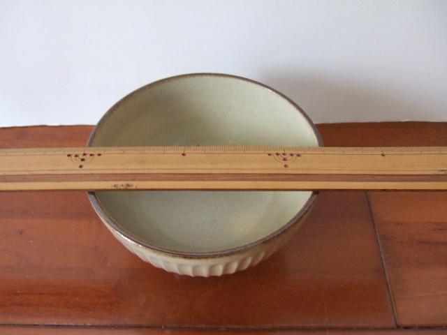 沖縄産 ツチノヒ やちむん 4寸マカイ しのぎ白(ご飯茶碗)