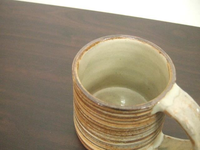 沖縄産 ツチノヒ やちむん マグカップ 刷毛目 シンプルマグ