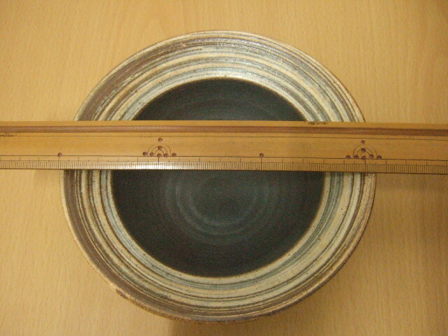 沖縄産 ツチノヒ やちむん 5寸平鉢 刷毛目