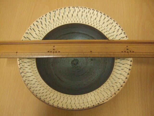 沖縄産 ツチノヒ やちむん 5寸平鉢 飛びかんな
