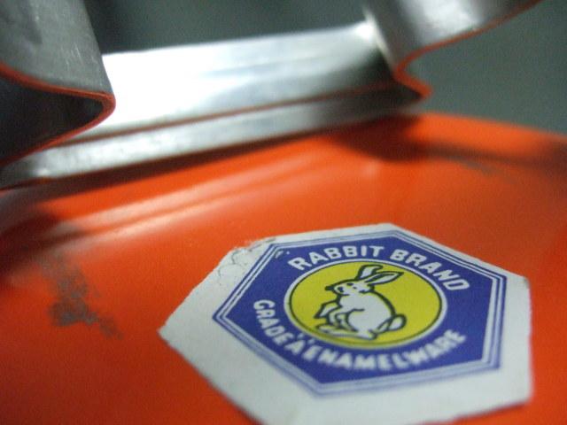 タイ製ホーロー3段弁当箱オレンジ