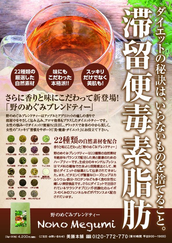美膳本舗スプリングキャンペーン!オリジナルバック限定20個のみ野のめぐみ 紅茶ブレンドティーNono Megumi