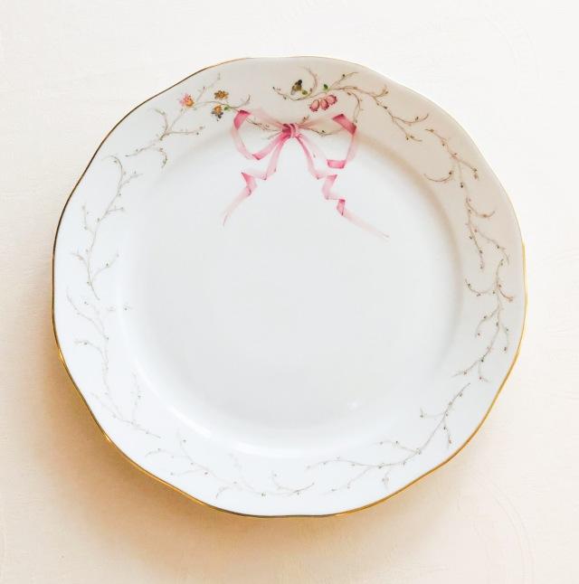 ☆再入荷☆ Herend Eden エデン桜ピンク シンプルバージョン ディナープレート 25cm ☆ディナープレートのみ。デザートサイズは別売です。