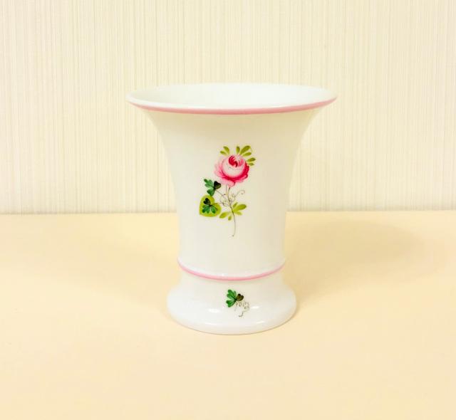 ☆再入荷☆ヘレンド VRH-X4 06460_0_00 ウィーンの薔薇ピンク 花瓶10cm