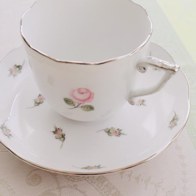 ☆ご会員様限定☆ Herend ヘレンド ウィーンの薔薇プラチナ コーヒーカップ&ソーサー