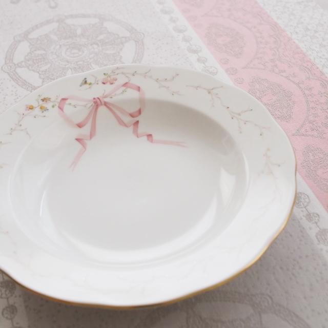 ☆即納品☆Herend ヘレンド エデン桜ピンク シンプル スーププレート