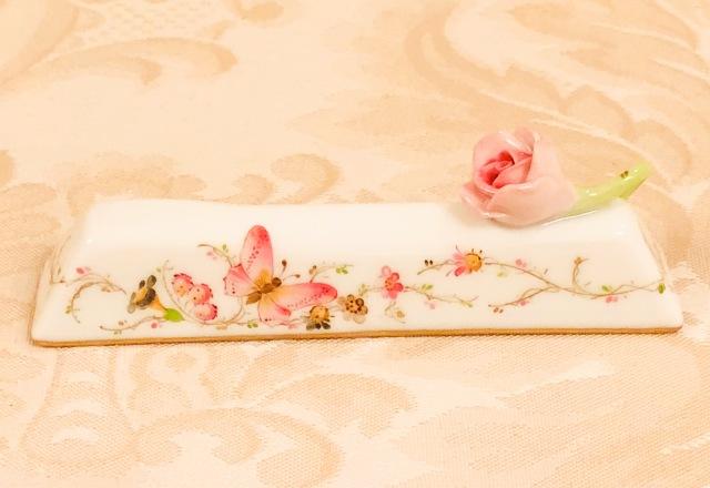 ☆ヘレンド EDEN シンプルエデン桜ピンク ナイフレスト ローズ☆ 注:ペアではありません。1点のご案内です。
