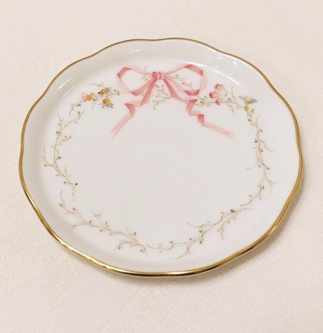 ☆ヘレンド☆ EDEN桜ピンク シンプル プチプレート10cm *プチプレートのみ。その他写真のアクセサリーは付属しません。