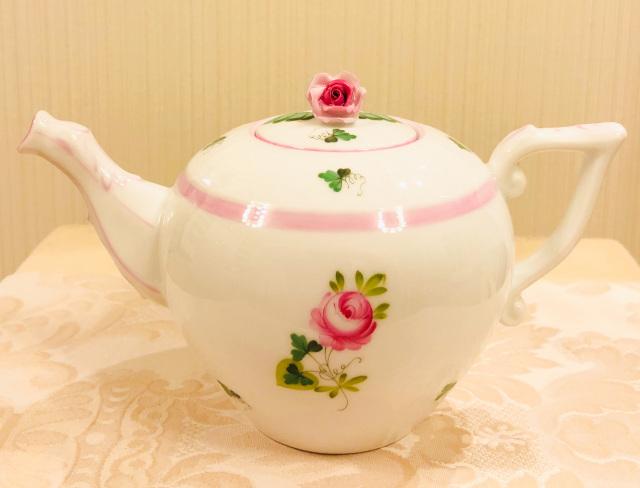 ☆再入荷☆ ヘレンド VRH-X4 00608-0-09 ウィーンの薔薇ピンク ティーポット 薔薇トップ 380ml