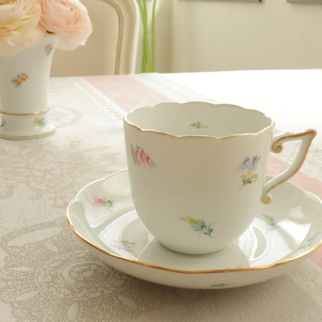 ☆再入荷☆ ミルフルール コーヒーカップ&ソーサー (*デザートプレートは別売です。)