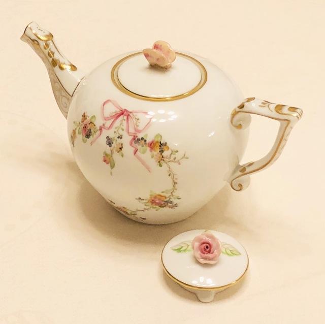 ☆再入荷☆お蓋が2種類☆即納品☆ EDEN コロンっと可愛い ヘレンド エデン桜ピンク TeaPot 400ml