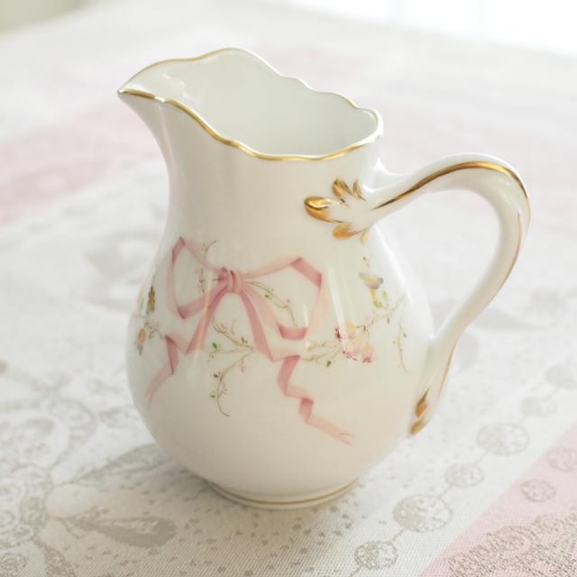 Herend ヘレンド エデン桜ピンク シンプル ミルクジャグ 約200ml