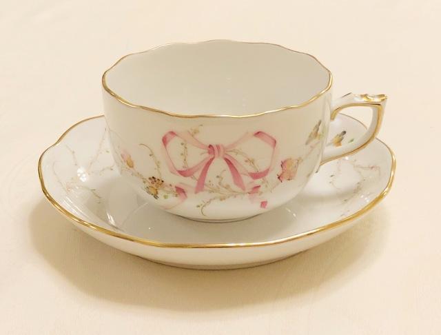 Herend ヘレンド  エデン桜ピンク シンプル カップ&ソーサー (*カップ&ソーサーのみ。プレートは別売です。)