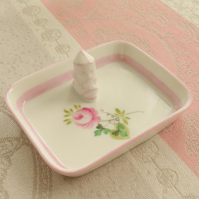 ☆御会員様専用価格☆レア☆ ウィーンの薔薇ピンク マンダリンミニトレイ