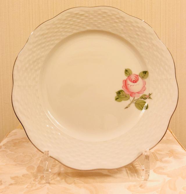 ☆ラスト1点☆ Herend VGRS-PT ヘレンド ウィーンの薔薇プラチナ デザートプレート 19cm