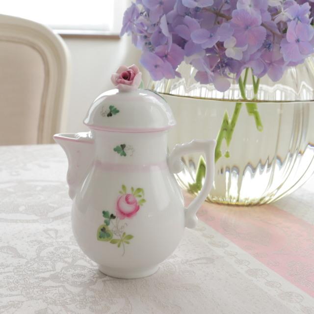 ☆再入荷☆ ヘレンド VRH-X4 ウィーンの薔薇ピンク ミニコーヒーポット くちばしタイプバラ 200ml