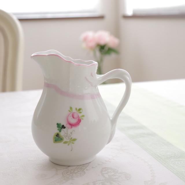 ☆御会員様限定☆Herend VRH-X4 ウィーンの薔薇ピンク ミルクジャグ 約200ml (*ピンクが淡めのお品です)