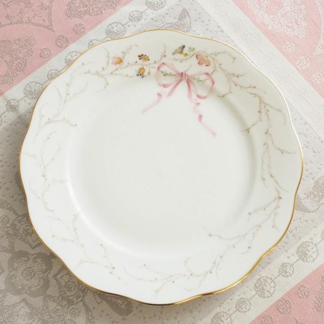 Herend ヘレンド エデン桜ピンク シンプル 19cm デザートプレート  (*プレートのみ。他のアイテムは別売です。)