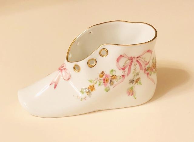 ☆レア☆ギフトにおすすめ☆ Herend ヘレンド EDEN エデン桜ピンク シューズ