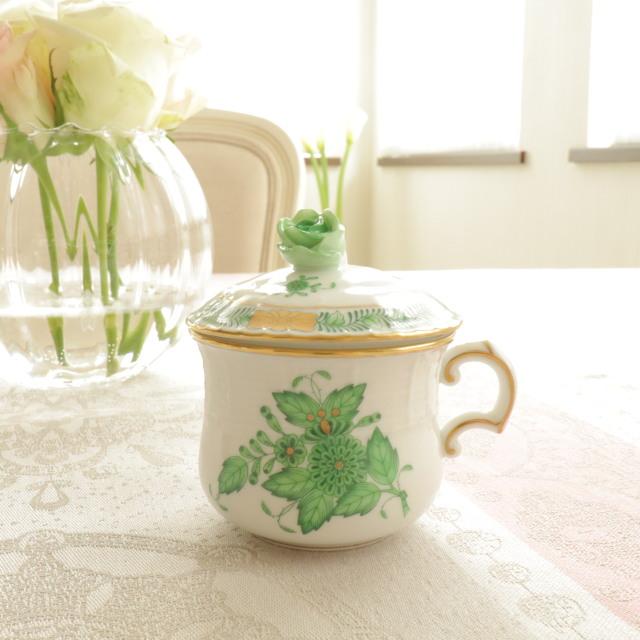 ☆御会員様専用価格☆レア☆ ヘレンド アポニーグリーン クリームカップ (*お写真の商品をお届けします。)