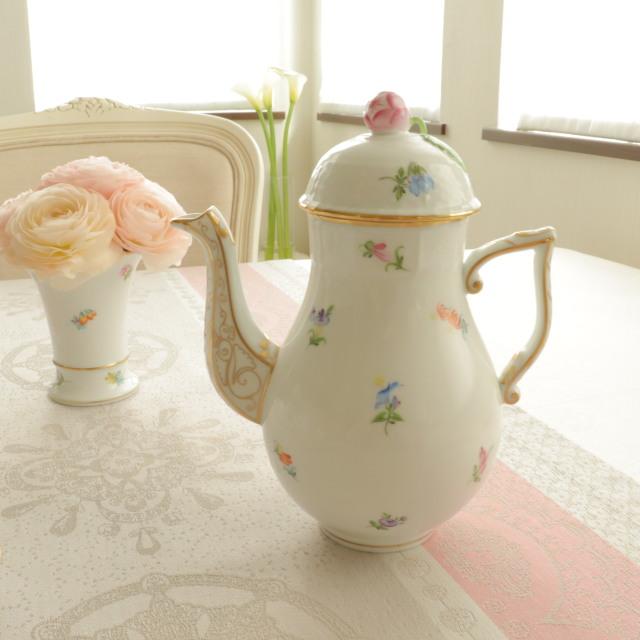 ☆訳あり☆特別価格ご案内品☆ ヘレンド MF 00614-0-12 ミルフルール コーヒーポット 700ml