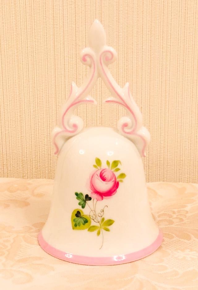☆レア☆ ヘレンド VRH-X4 ウィーンの薔薇ピンク バロック調テーブルベル