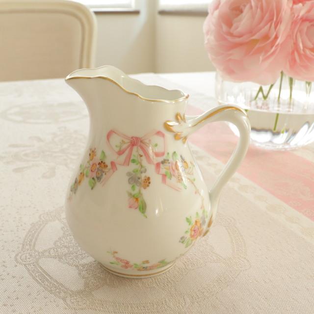 ☆御会員様専用☆ヘレンド EDEN エデン桜ピンク ミルクジャグ 約200ml(*ミルクジャグのみ。他のものは付属しません)