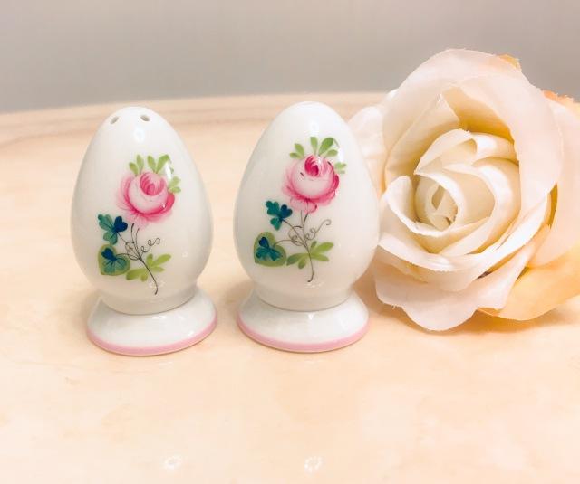 ☆再入荷☆Herend VRH-X4 ウィーンの薔薇ピンク 00249&00250 ソルト&ペッパー セット