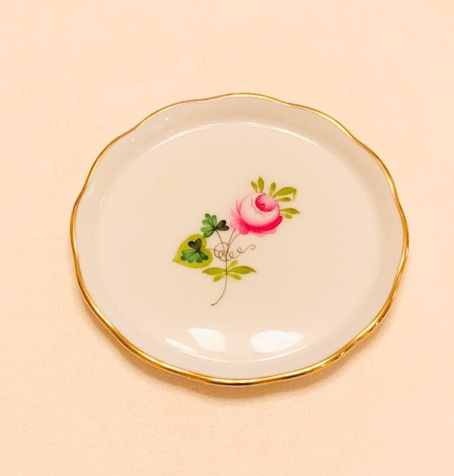 ☆ギフトにオススメ☆ ヘレンド VRHS ウィーンの薔薇シンプルゴールド プチプレート 10cm