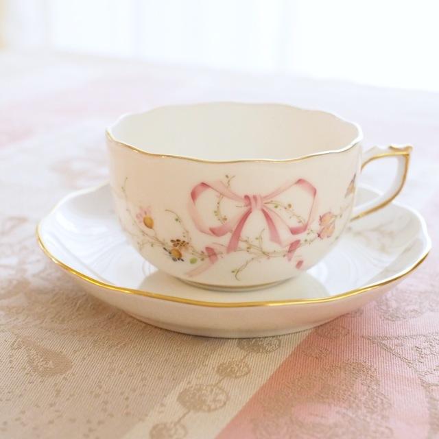 ☆再入荷☆ Herend ヘレンド  エデン桜ピンク シンプル カップ&ソーサー (*カップ&ソーサーのみ。プレートは別売です。)