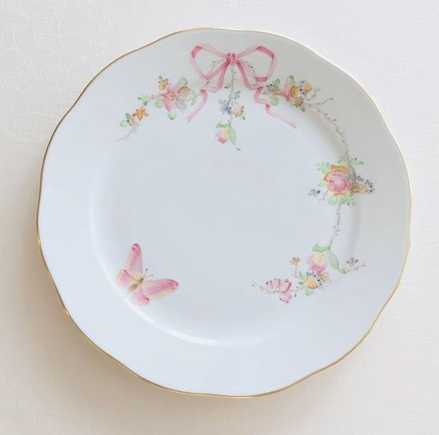Herend Eden エデン桜ピンク フルデザインバージョン ディナープレート 25cm ☆ディナープレートのみ。デザートサイズは別売です。