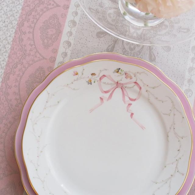 ☆ご会員様優先販売☆ Herend Eden エデン桜ピンク シンプルバージョン ディナープレート 25cm ☆ディナープレートのみ。アンダープレート、スーププレートは別売です。