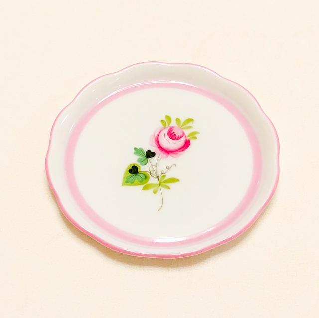 ヘレンド VRH-X4 ウィーンの薔薇ピンク プチプレート 10cm