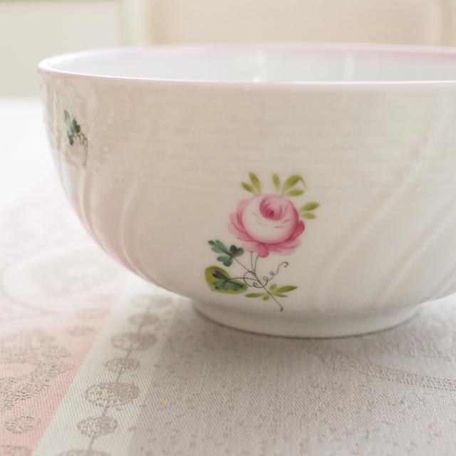 ☆レア☆Herend☆ヘレンド ☆ウィーンの薔薇ピンク ラージ丼ボウル