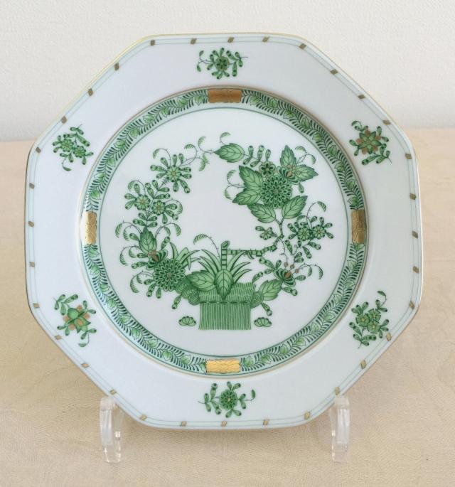 ヘレンド  FV 04318-0-00 インドの華 八角デザート皿 約18.5cm